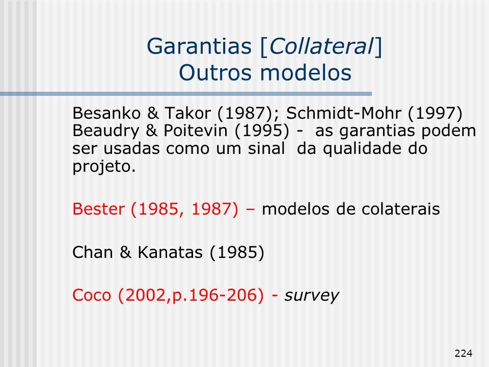 Garantias [Collateral] Outros modelos